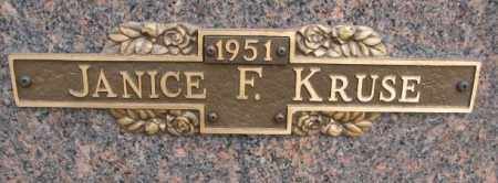 KRUSE, JANICE F. - Yankton County, South Dakota | JANICE F. KRUSE - South Dakota Gravestone Photos