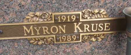 KRUSE, MYRON - Yankton County, South Dakota | MYRON KRUSE - South Dakota Gravestone Photos