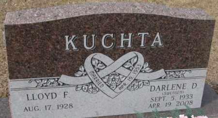 KUCHTA, DARLENE D. - Yankton County, South Dakota   DARLENE D. KUCHTA - South Dakota Gravestone Photos