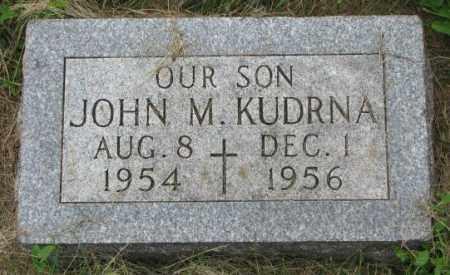 KUDRNA, JOHN M. - Yankton County, South Dakota | JOHN M. KUDRNA - South Dakota Gravestone Photos
