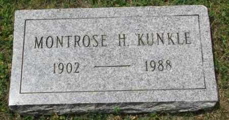 KUNKLE, MONTROSE H. - Yankton County, South Dakota | MONTROSE H. KUNKLE - South Dakota Gravestone Photos