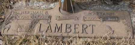 LAMBERT, HERSHAL B. - Yankton County, South Dakota | HERSHAL B. LAMBERT - South Dakota Gravestone Photos