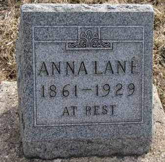 LANE, ANNA - Yankton County, South Dakota | ANNA LANE - South Dakota Gravestone Photos