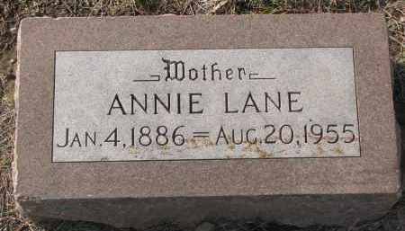 LANE, ANNIE - Yankton County, South Dakota | ANNIE LANE - South Dakota Gravestone Photos