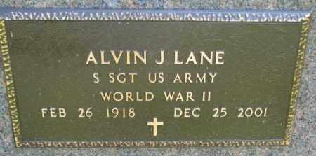 LANE, ALVIN J. (WW II) - Yankton County, South Dakota | ALVIN J. (WW II) LANE - South Dakota Gravestone Photos