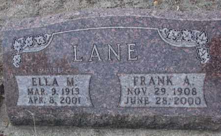 LANE, FRANK A. - Yankton County, South Dakota | FRANK A. LANE - South Dakota Gravestone Photos