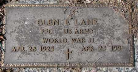 LANE, GLEN E. - Yankton County, South Dakota | GLEN E. LANE - South Dakota Gravestone Photos