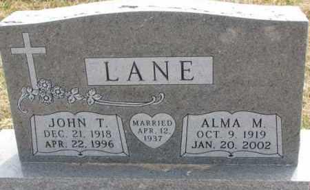 LANE, JOHN T. - Yankton County, South Dakota   JOHN T. LANE - South Dakota Gravestone Photos