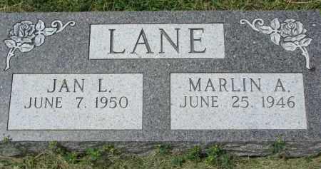 LANE, MARLIN A. - Yankton County, South Dakota | MARLIN A. LANE - South Dakota Gravestone Photos