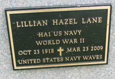 LANE, LILLIAN HAZEL (WW II) - Yankton County, South Dakota | LILLIAN HAZEL (WW II) LANE - South Dakota Gravestone Photos