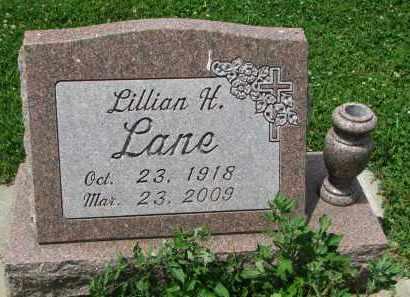 LANE, LILLIAN H. - Yankton County, South Dakota | LILLIAN H. LANE - South Dakota Gravestone Photos