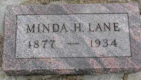 LANE, MINDA H. - Yankton County, South Dakota | MINDA H. LANE - South Dakota Gravestone Photos