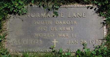 LANE, NORMAN E. (WW II) - Yankton County, South Dakota | NORMAN E. (WW II) LANE - South Dakota Gravestone Photos
