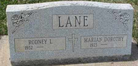 LANE, MARIAN DOROTHY - Yankton County, South Dakota | MARIAN DOROTHY LANE - South Dakota Gravestone Photos