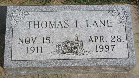 LANE, THOMAS L. - Yankton County, South Dakota | THOMAS L. LANE - South Dakota Gravestone Photos