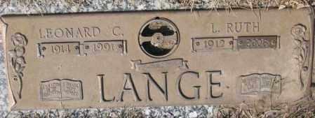 LANGE, L. RUTH - Yankton County, South Dakota   L. RUTH LANGE - South Dakota Gravestone Photos