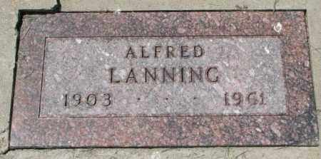 LANNING, ALFRED - Yankton County, South Dakota | ALFRED LANNING - South Dakota Gravestone Photos