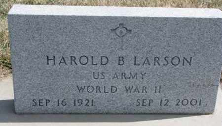 LARSON, HAROLD B. - Yankton County, South Dakota   HAROLD B. LARSON - South Dakota Gravestone Photos