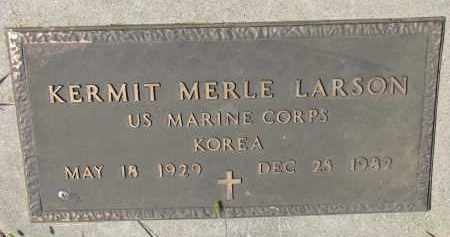 LARSON, KERMIT MERLE (MILITARY) - Yankton County, South Dakota   KERMIT MERLE (MILITARY) LARSON - South Dakota Gravestone Photos
