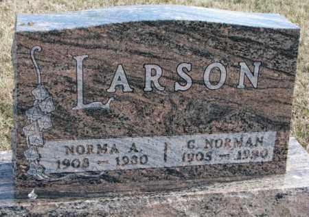 LARSON, G. NORMAN - Yankton County, South Dakota | G. NORMAN LARSON - South Dakota Gravestone Photos