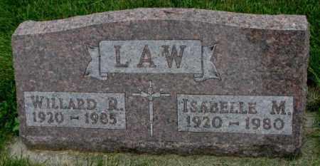 LAW, ISABELLE M. - Yankton County, South Dakota | ISABELLE M. LAW - South Dakota Gravestone Photos