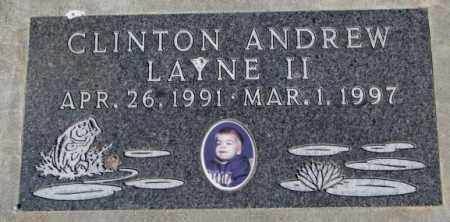 LAYNE, CLINTON ANDREW II - Yankton County, South Dakota | CLINTON ANDREW II LAYNE - South Dakota Gravestone Photos