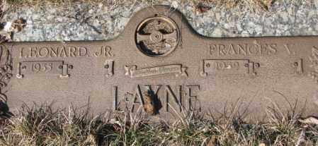 LAYNE, FRANCES V. - Yankton County, South Dakota | FRANCES V. LAYNE - South Dakota Gravestone Photos