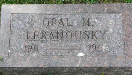 LEBANOUSKY, OPAL M. - Yankton County, South Dakota | OPAL M. LEBANOUSKY - South Dakota Gravestone Photos