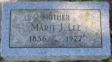 LEE, MARIT J. - Yankton County, South Dakota | MARIT J. LEE - South Dakota Gravestone Photos