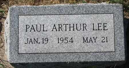 LEE, PAUL ARTHUR - Yankton County, South Dakota | PAUL ARTHUR LEE - South Dakota Gravestone Photos