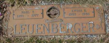 LEUENBERGER, LYDIA E. - Yankton County, South Dakota | LYDIA E. LEUENBERGER - South Dakota Gravestone Photos