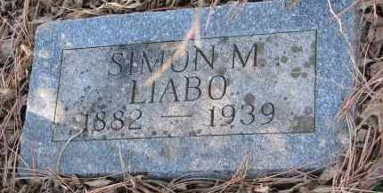 LIABO, SIMON M. - Yankton County, South Dakota | SIMON M. LIABO - South Dakota Gravestone Photos