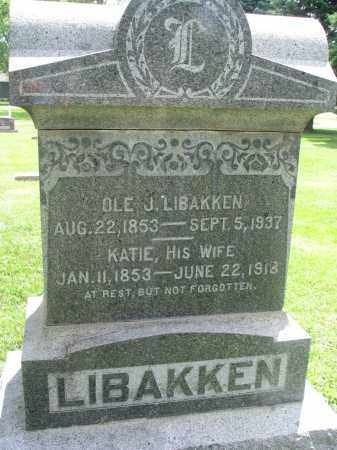 LIBAKKEN, KATIE - Yankton County, South Dakota | KATIE LIBAKKEN - South Dakota Gravestone Photos