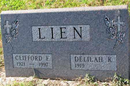 LIEN, DELILAH K. - Yankton County, South Dakota   DELILAH K. LIEN - South Dakota Gravestone Photos