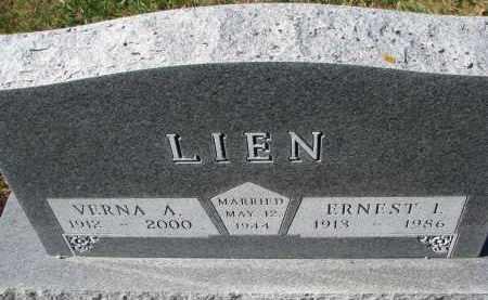 LIEN, ERNEST I. - Yankton County, South Dakota | ERNEST I. LIEN - South Dakota Gravestone Photos