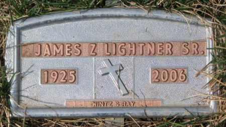 LIGHTNER, JAMES Z. SR. - Yankton County, South Dakota   JAMES Z. SR. LIGHTNER - South Dakota Gravestone Photos