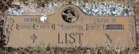 LIST, OLGA H. - Yankton County, South Dakota | OLGA H. LIST - South Dakota Gravestone Photos