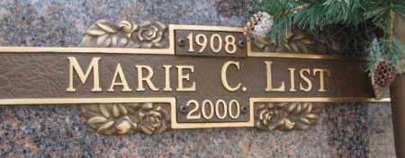LIST, MARIE C. - Yankton County, South Dakota | MARIE C. LIST - South Dakota Gravestone Photos