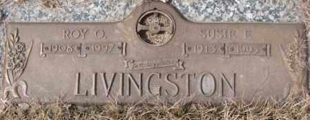 LIVINGSTON, SUSIE E. - Yankton County, South Dakota   SUSIE E. LIVINGSTON - South Dakota Gravestone Photos