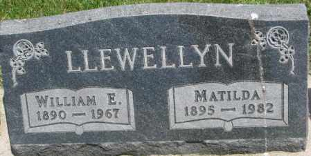 LLEWELLYN, WILLIAM E. - Yankton County, South Dakota | WILLIAM E. LLEWELLYN - South Dakota Gravestone Photos