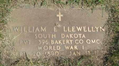 LLEWELLYN, WILLIAM E. (WW I) - Yankton County, South Dakota | WILLIAM E. (WW I) LLEWELLYN - South Dakota Gravestone Photos
