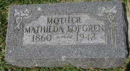 LOFGREN, MATHILDA - Yankton County, South Dakota | MATHILDA LOFGREN - South Dakota Gravestone Photos