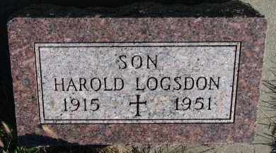 LOGSDON, HAROLD - Yankton County, South Dakota   HAROLD LOGSDON - South Dakota Gravestone Photos