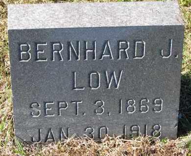 LOW, BERNHARD J. - Yankton County, South Dakota | BERNHARD J. LOW - South Dakota Gravestone Photos