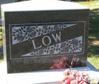 LOW, FAMILY STONE - Yankton County, South Dakota   FAMILY STONE LOW - South Dakota Gravestone Photos