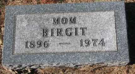 LOWE, BIRGIT - Yankton County, South Dakota   BIRGIT LOWE - South Dakota Gravestone Photos