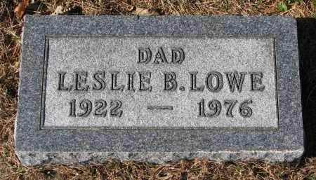 LOWE, LESLIE B. - Yankton County, South Dakota | LESLIE B. LOWE - South Dakota Gravestone Photos