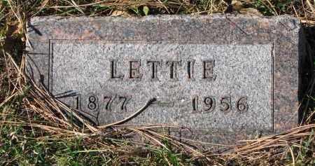 LOWE, LETTIE - Yankton County, South Dakota | LETTIE LOWE - South Dakota Gravestone Photos