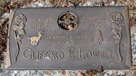 LOWELL, CLIFFORD E. - Yankton County, South Dakota   CLIFFORD E. LOWELL - South Dakota Gravestone Photos