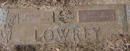 LOWREY, MYRON E. - Yankton County, South Dakota | MYRON E. LOWREY - South Dakota Gravestone Photos